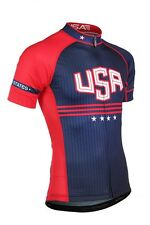 Team USA Cycling Jersey Clothing Short-Sleeve Road Mens Professional Ciclismo