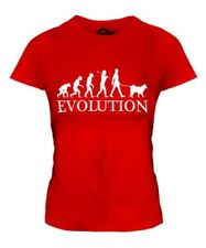 SCHIPPERKE EVOLUTION OF MAN LADIES T-SHIRT TEE TOP DOG LOVER GIFT WALKER WALKING
