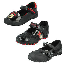 GIRLS INFANT SIZE MINNIE MOUSE HELLO KITTY RED CASUAL BLACK FLAT SCHOOL SHOES