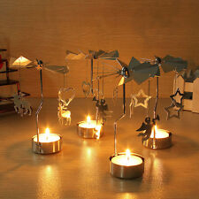 Xmas Spinning Rotary Carousel Tea Light Candle Holder Stand Light Holder 2016
