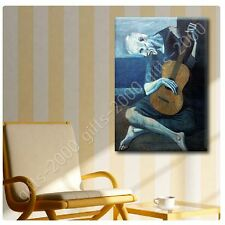 Synthetic CANVAS +GIFT The Old Guitarist Pablo Picasso Painting Prints Paints