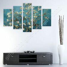 Synthetic CANVAS +GIFT Almond Blossom Vincent Van Gogh 5 Panels Pictures