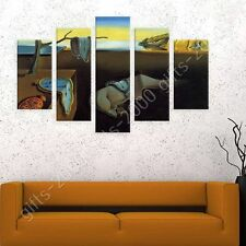 Synthetic CANVAS +GIFT The Persistence Of Memory Clock Salvador Dali Wall Art