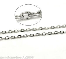 Wholesale Hot! Silver Tone Links-Opened Cable Chains 4.5x3mm