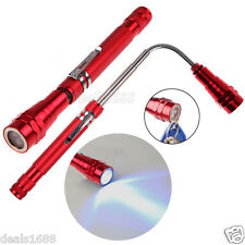 Flexible Long Torch Telescopic Lamp LED Magnetic Pick Up Tool Light Flashlight