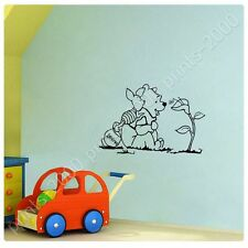 STICKER +GIFT Winnie The Pooh And Piglet Alonline Designs Mural Prints Poster