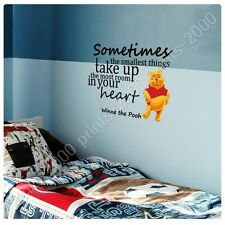 STICKER +GIFT Sometimes The Smallest Things. Winnie The Pooh Alonline Designs