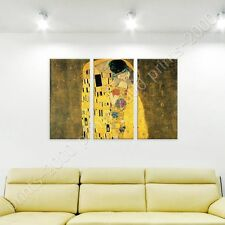 POSTER or STICKER +GIFT Decals Vinyl The Kiss Gustav Klimt 3 Panels Pictures