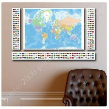 POSTER or STICKER +GIFT Decals Vinyl Political Modern Flags World Map Paints