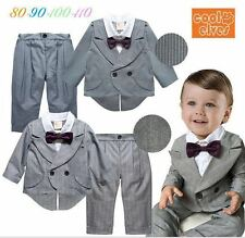 Boys 2 piece smart formal occasion tuxedo blazer Trouser set with Bowtie