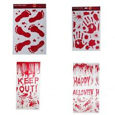 Halloween Scary Bloody Window Clings Door Cover Party Decor Props 4 Styles