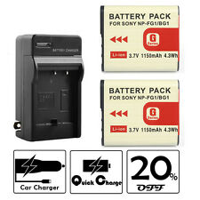 Battery Charger for Sony NP-BG1/FG1 DSC-T100/20 N1/N2 W30/300/80/90 H9/10/20 H10
