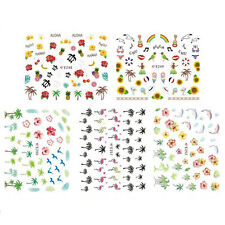 1 Sheet Nail Art Water Transfers Stickers Decals Flamingo Design Decoration EV