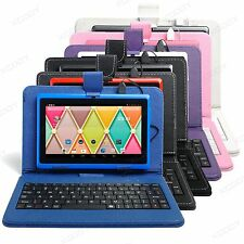 """7"""" HD Touch Screen Quad Core 16GB Android 4.4 Tablet PC Bundled Keyboard Case"""