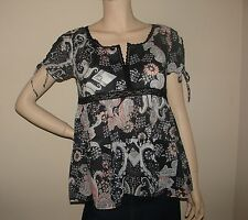 New Odd Molly O.d. d. Almost Black Blouse Top 1, 2, 3, 4