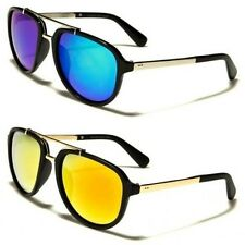 New Mens Womens Large Aviator Vintage Sunglasses Metal UV400 A1