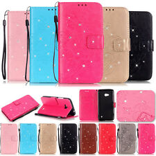 -YPYB Pattern Rhinestone Leather Wallet Case Cover For Nokia Lumia N535 N640