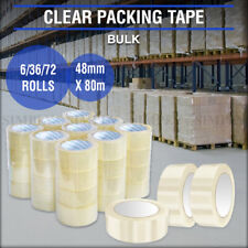 Clear Packing Tape Packaging Sticky Bulk Rolls Adhesive Shipping Box 48mm x 80m