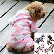 Pet Dog Puppy Cute Warm Winter Hoodie Jumpsuit Coat Clothes Costume S-XXL