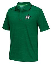 "Dallas Stars Reebok NHL 2016 Center Ice ""Travel"" Speedwick Polo Shirt"