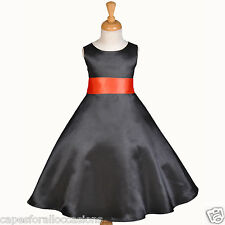 BLACK PAGEANT TODDLER WEDDING FLOWER GIRL DRESS 12-18M 2 3T 4 5T 6 6X 8 10 12 14