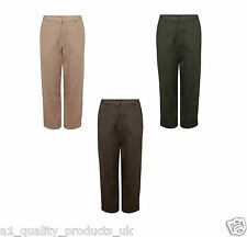 Ladies Faux Suede Trousers - With Pockets, Womens Plain Leg - RRP £30 - BNWT