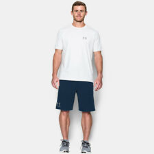 Under Armour French Terry Mens Blue Running Sports Shorts Pants Bottoms