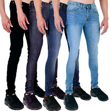 New Mens Spray On Super Skinny Stretch Casual Punk Retro Skin Tight Denim Jeans