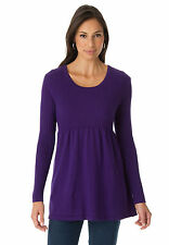 NEW JESSICA LONDON PLUS SIZE RIBBED COTTON BABYDOLL TUNIC TOP 1X, 2X