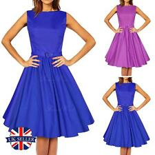 Womens Vintage 1940s 1950s Dress Rockabilly Swing Dresses Party Evening Prom