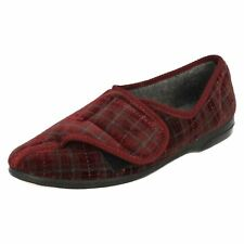 "Balmoral Mens Slipper Shoes RipTape Opening Burgandy ""FRANK"" UK6 to 11 (R3B)"