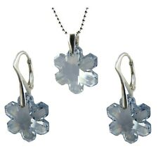 SNOWFLAKE CRYSTAL (6704) STERLING SILVER SET, made with SWAROVSKI ELEMENTS