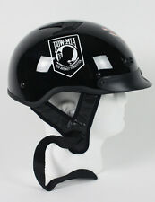 D.O.T. VENTED POW / MIA MOTORCYCLE HELMET HALF HELMET BEANIE SHORTY LIGHTER NEW
