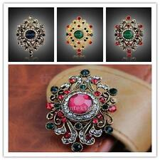 Vintage Gold Alloy Rhinestone Crystal Flower Party Prom Bouquet Brooches Pin Hot
