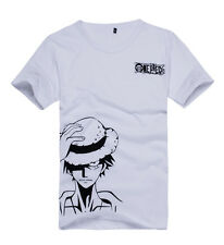 One Piece M D Luffy Printing Short Sleeves Top Unisex Daily T Shirt Anime Tee