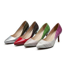 AU Size New High Heel Party Synthetic Patent Leather Sexy Formal Lady Shoes s068