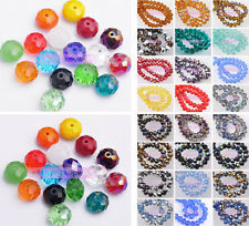 10/20pcs 12mm Rondelle Faceted Crystal Glass Loose Spacer Beads Wholesale Lot