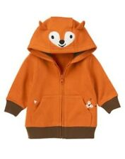 Gymboree Fox Fella Boy SZ 3-6mo Sweatshirt Zip Up Fox Hooded Cardigan NEW