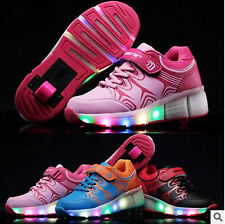 Hot Child Heelys Jazzy Junior Girls/Boys LED Light Heelys Roller Skate Shoes