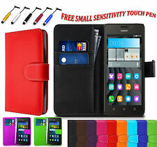 Magnetic PU Leather Side Book Flip Wallet Case Cover Pouch For Huawei P8 Lite UK