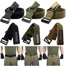 Mens Quality Belt Military Gun Belt BlackHawk Rescue Riggers Tactical Rappelling