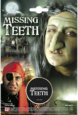 HALLOWEEN MISSING TEETH WITCH PIRATE SCARY LOOKS BLACK TOOTH OUT FANCY DRESS