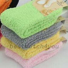 Fluffy Thick Coral Fleece Warm Women's Winter Floor Bed Ankle Socks Home Comfy