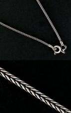 Snake 1.5mm Bali Braid 925 Solid Sterling Silver Chain Necklace Black Oxidized