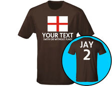 England Your Text Personalised Mens Football Rugby T-Shirt (12 Colours)