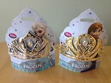 NEW Disney Store Frozen GOLD ANNA  or Silver ELSA Tiara Crown Girl Costume Dress