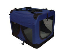 Portable Soft Pet Dog Crate Cage Kennel in Blue, Grey, Red