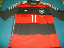 ADIDAS M. KLOSE GERMANY AWAY JERSEY SEMIFINAL DETAIL FIFA WORLD CUP BRAZIL 2014