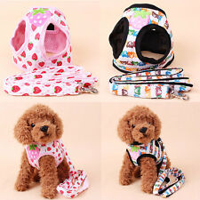 Soft Cotton Control Harness Puppy Printing Walk Breathable Collar Pet Dog