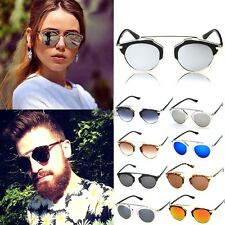 Mens Womens UV400 Sunglasses Vintage Style Retro Classic Eyewear Glasses OK